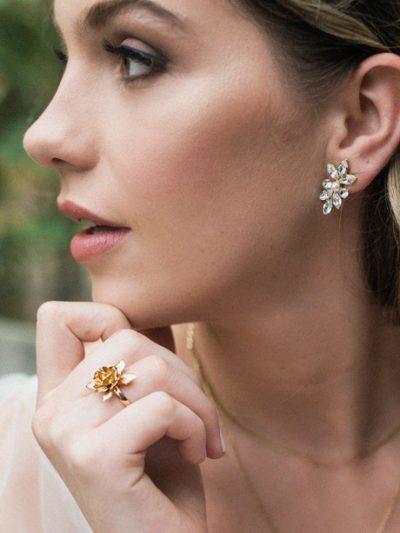 Gold Flower wedding ring