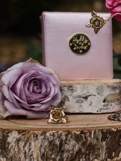 Gold Sydney wedding dress ring