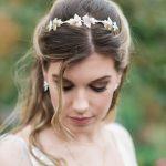 Ivy bridal headbands gold