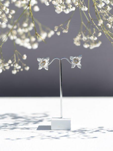 Flower wedding earrings