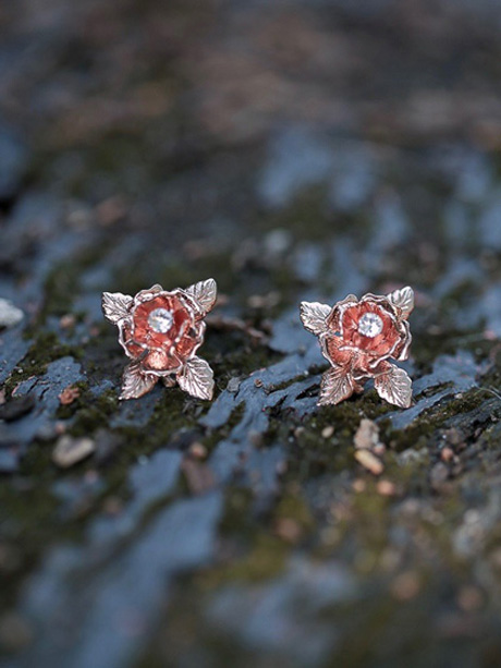 Sydney flower earrings rose gold