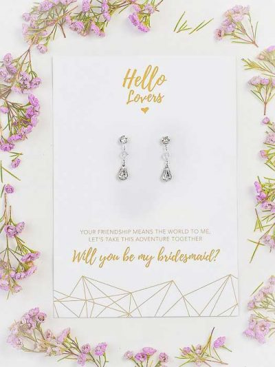 Bridesmaids gifts glamour earrings