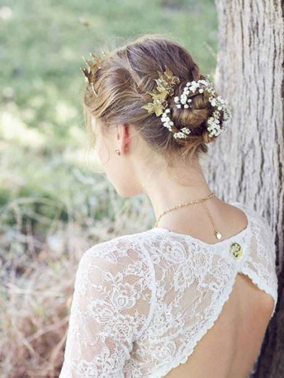 Gold wedding hair comb sale jewellery