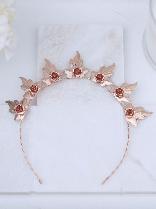 Luxe wedding tiara rose gold