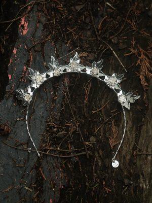wedding tiara in silver