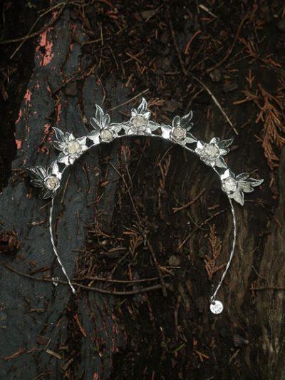 silver wedding tiara Lux