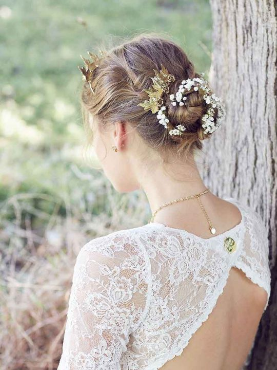 Luxe Melbourne wedding hair comb gold