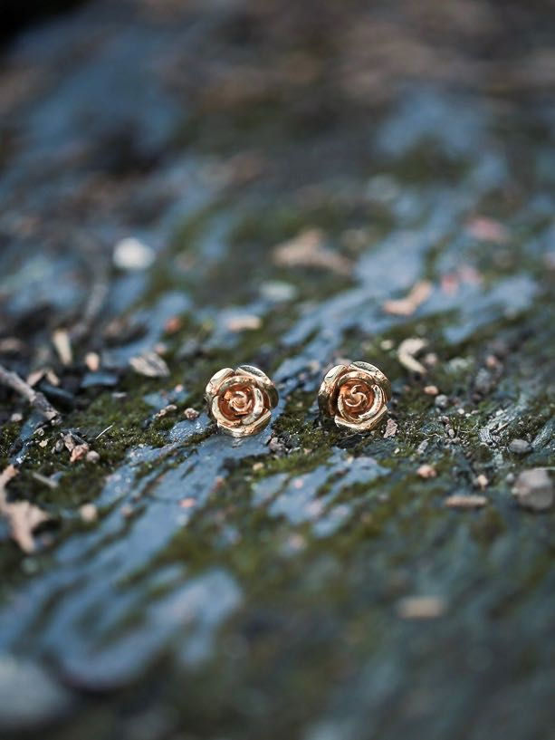Melbourne gold bridal earrings