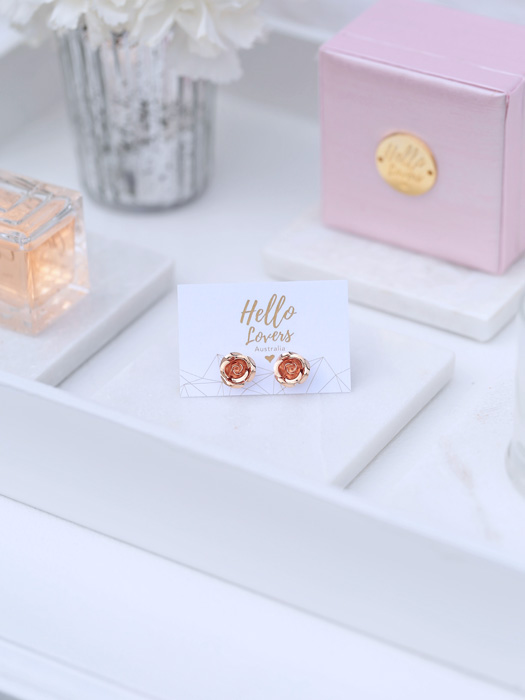 Melbourne wedding earrings in gold