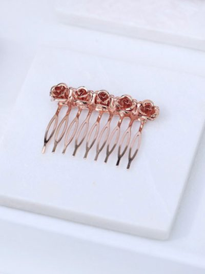 Small hair comb rose gold