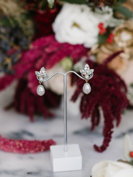 Rutherglen gold wedding earrings