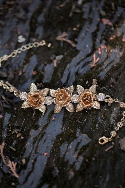 Gold Sydney bridal bracelet