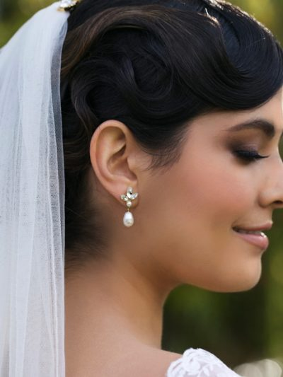 Special earrings with pearls