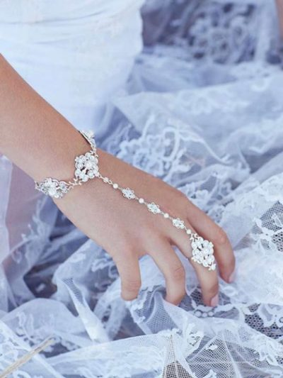 Chic wedding jewellery bridal bracelet ring