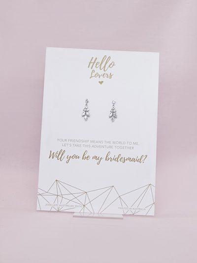 Bridesmaids gift of earrings