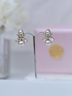 bendigo bridal earrings in silver