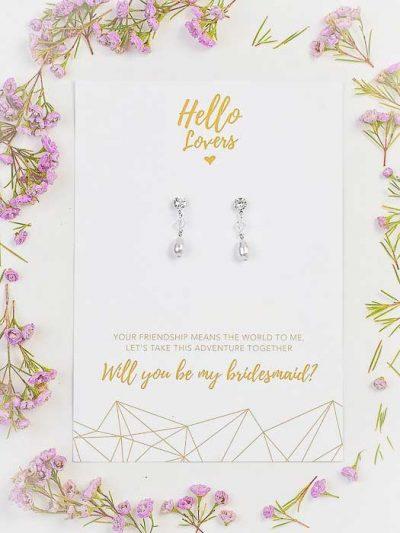Bridesmaids gift classic earrings