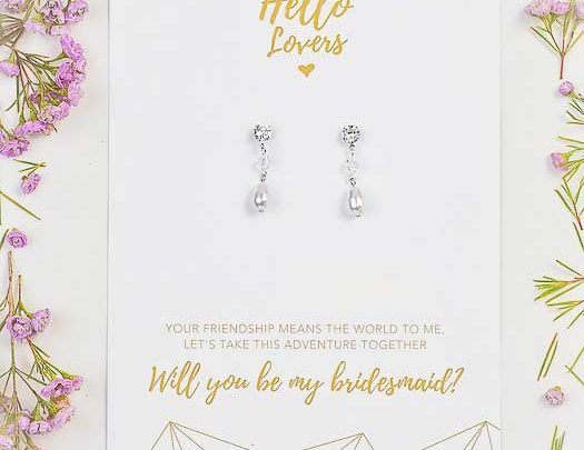Bridesmaids gift classic earrings