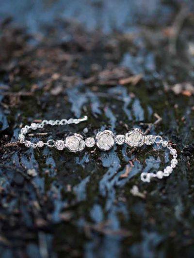 Silver Melbourne style bracelets