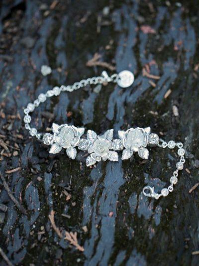 Silver bridal bracelet