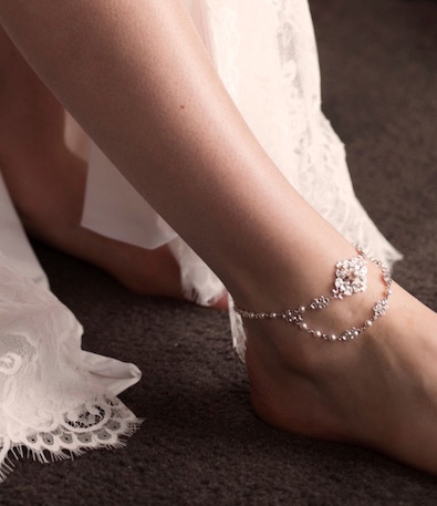 Bridal anklet Chic jewellery set