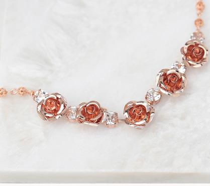 Melbourne wedding necklaces rose gold