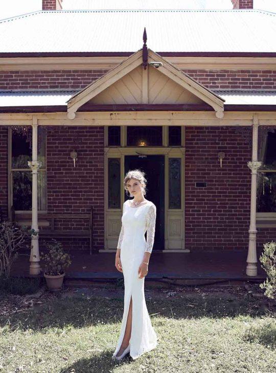 Lace long sleeve wedding dress Devonport