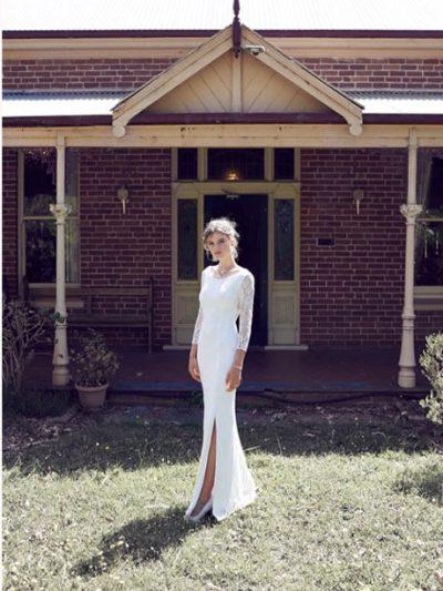 boho long sleeve wedding dress