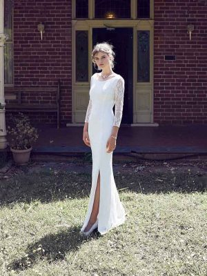 sexy long sleeve wedding dress Devonport