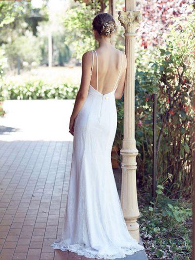 boho low back wedding dresses