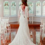 Back of the Eildon bohemian wedding gown