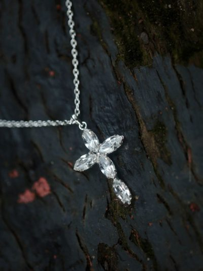 Silver cross necklace