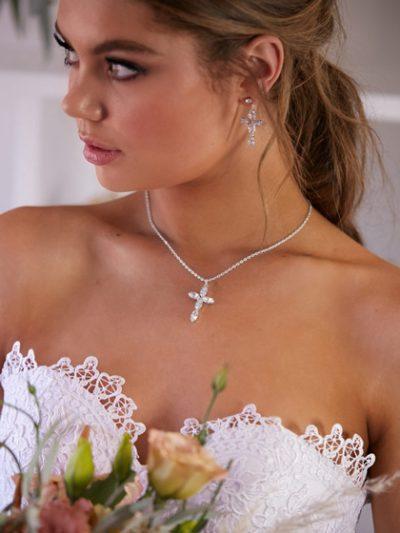 Religious cross necklace