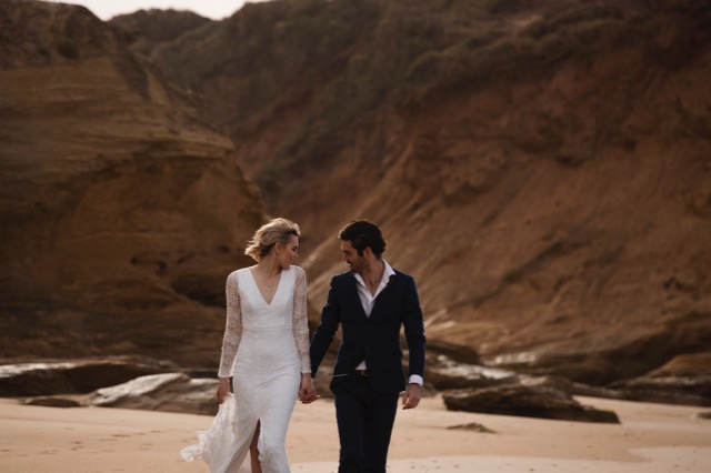 beach wedding dresses in Melbourne