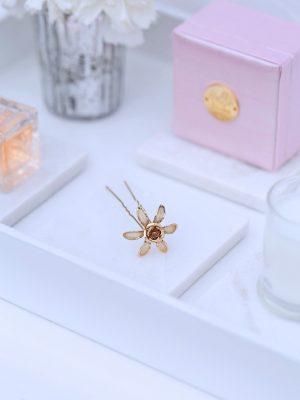 gold wedding hair pins