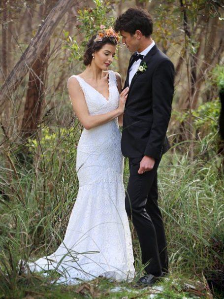 Wedding dress lace the Eliden