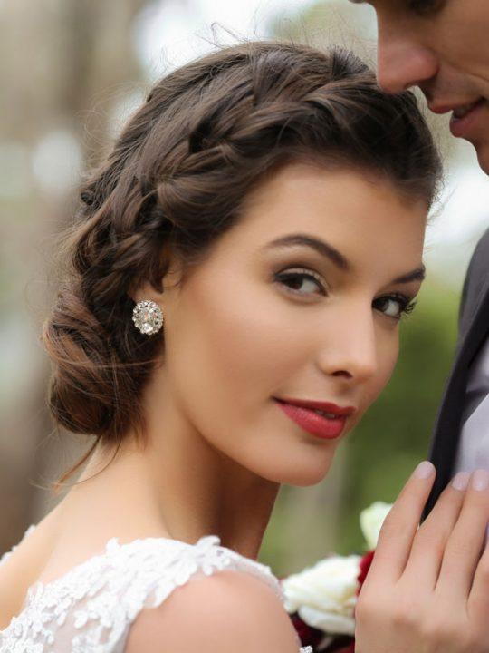 Springtime wedding earrings