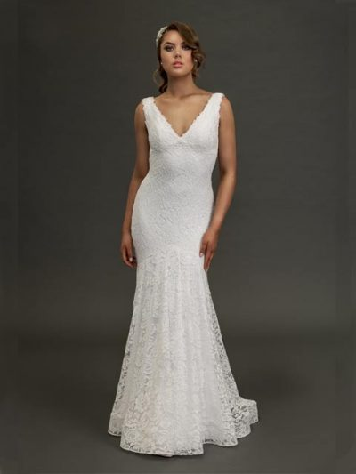 Eildon fitted wedding dresses in lace