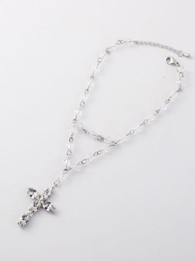 Silver rosary bracelet