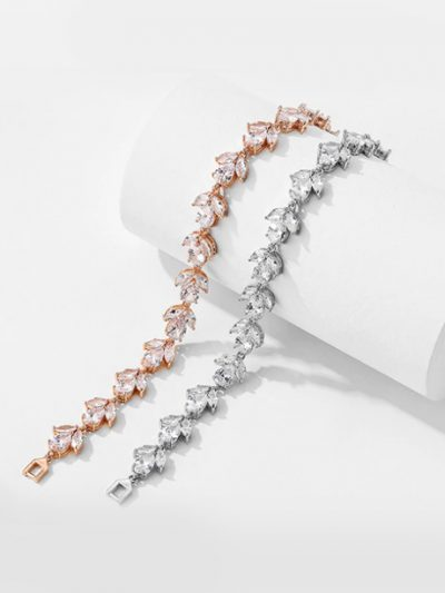 Eden pearl and silver wedding bracelet