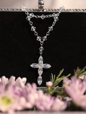 Double chain bridal rosary bracelet
