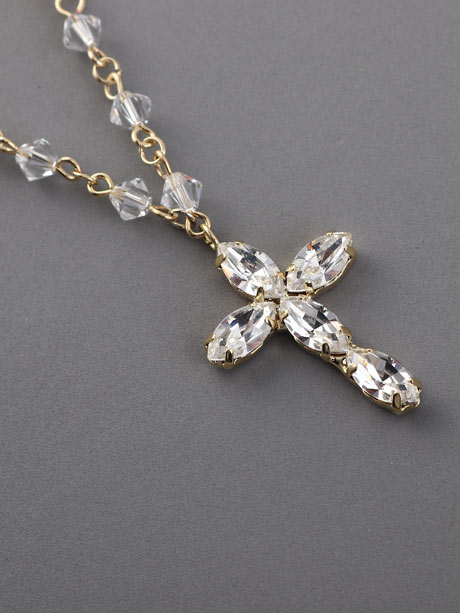 Gold rosary cross spiritual jewellery
