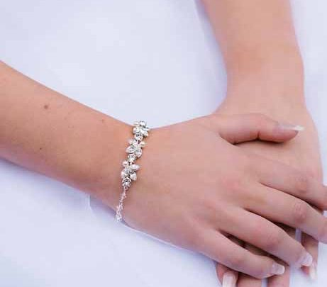 The Eden silver wedding bracelet
