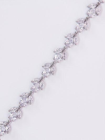 Designer wristlet in silver