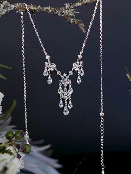 Silver little chandelier necklace