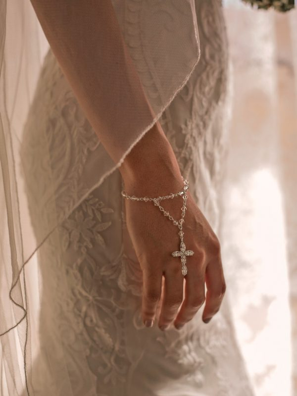 wedding rosary beads bracelet