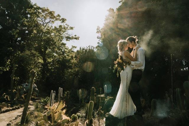 Rosebud Bohemian garden wedding