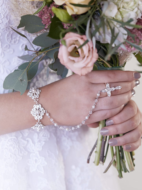 Rosary bracelets for brides