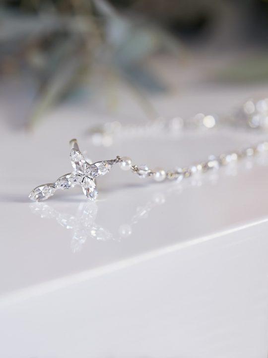 Rosary cross bracelet