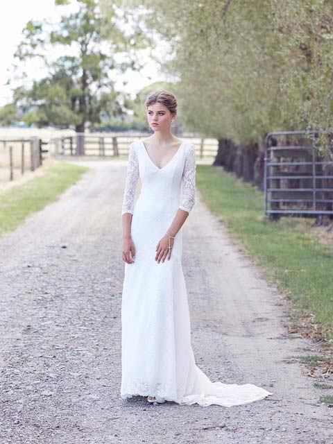 Broome boho lace wedding dresses